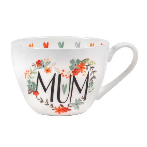 Portobello CM05208MTL Floral Mum Wilmslow Bone China Mug