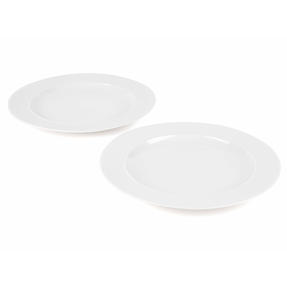 Alessi 1110301 La Bella Tavola Porcelain Dinner Plates, 27 cm, Off-White, Set of 2 Thumbnail 1