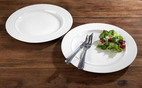 Alessi 1110301 La Bella Tavola Porcelain Dinner Plates, 27 cm, Off-White, Set of 2 Thumbnail 10