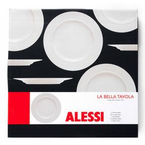 Alessi 1110301 La Bella Tavola Porcelain Dinner Plates, 27 cm, Off-White, Set of 2 Thumbnail 11