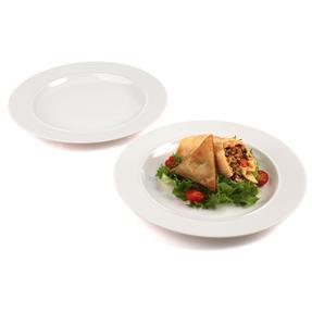 Alessi 1110301 La Bella Tavola Porcelain Dinner Plates, 27 cm, Off-White, Set of 2 Thumbnail 2