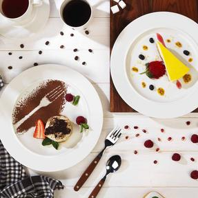 Alessi 1110301 La Bella Tavola Porcelain Dinner Plates, 27 cm, Off-White, Set of 2 Thumbnail 3