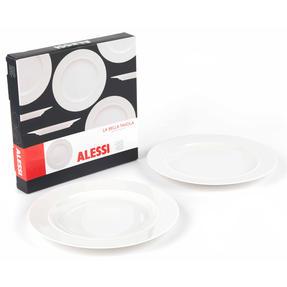 Alessi 1110301 La Bella Tavola Porcelain Dinner Plates, 27 cm, Off-White, Set of 2 Thumbnail 4
