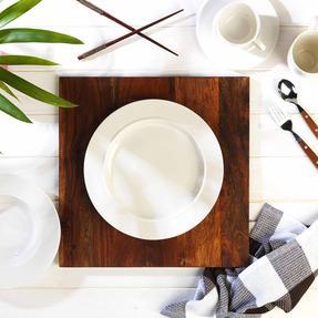 Alessi 1110301 La Bella Tavola Porcelain Dinner Plates, 27 cm, Off-White, Set of 2 Thumbnail 5