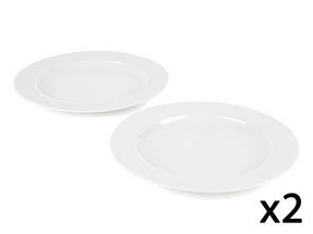 Alessi La Bella Tavola Porcelain Dinner Plates, 27cm, Set of 4