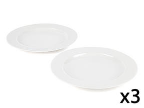 Alessi La Bella Tavola Porcelain Dinner Plates in Gift Box, 27cm, Set of 6