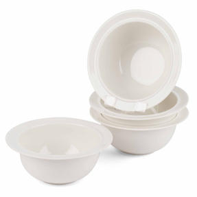 Alessi 1110304 La Bella Tavola Porcelain Cereal, Soup, Dessert Bowls, 16 cm, Off-White, Set of 2 Thumbnail 4