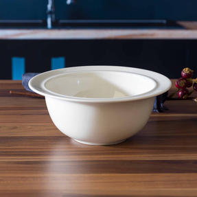 Alessi 1110304 La Bella Tavola Porcelain Cereal, Soup, Dessert Bowls, 16 cm, Off-White, Set of 2 Thumbnail 6