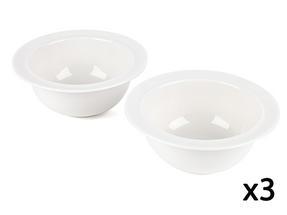 Alessi La Bella Tavola Porcelain Cereal, Soup, Dessert Bowls, 16cm, Set of 6