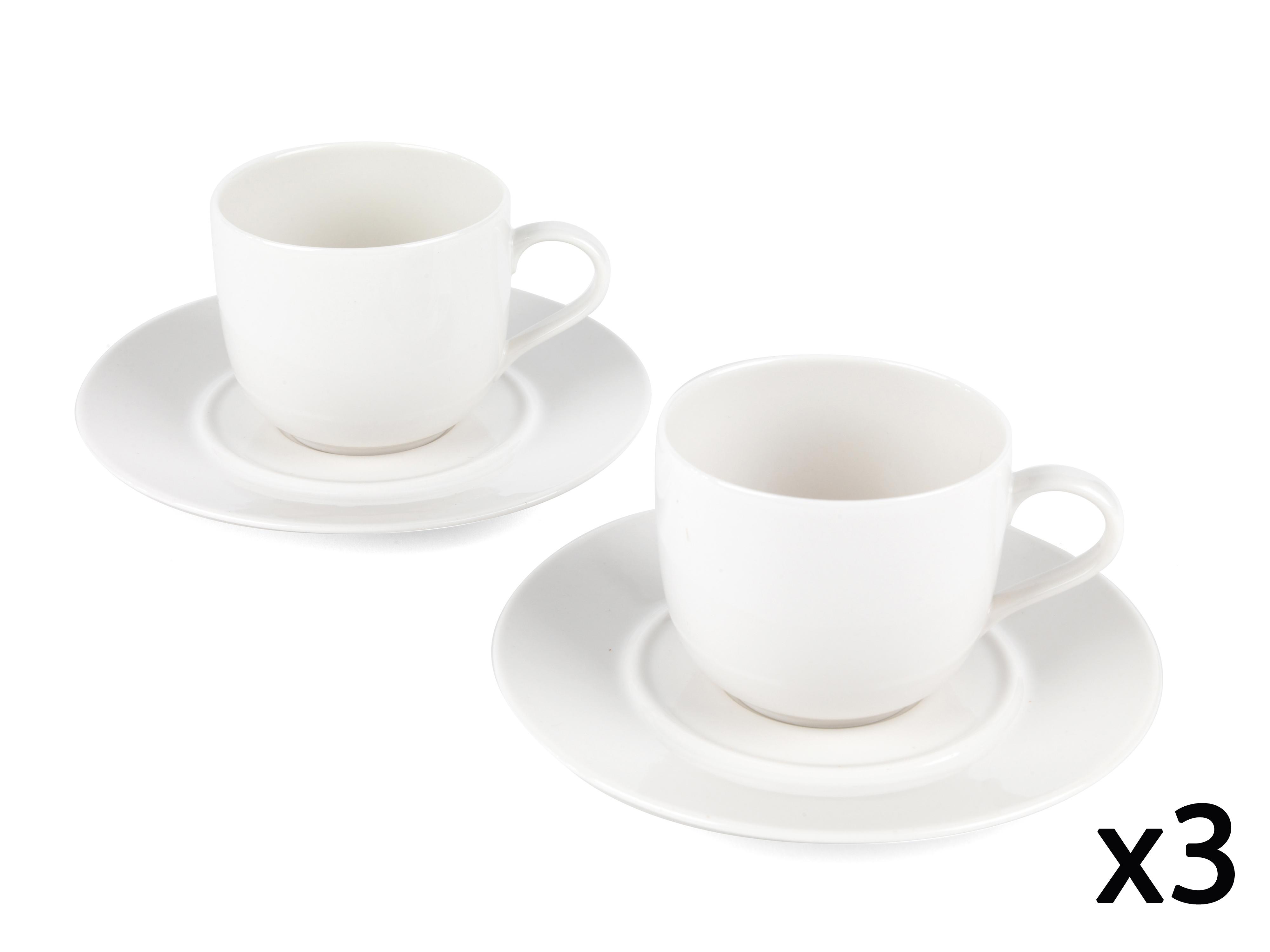 Alessi la bella tavola porcelain cup and saucer set of 6 - Alessi la bella tavola ...