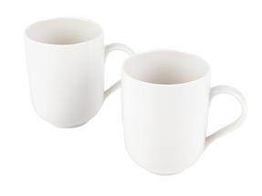 Alessi La Bella Tavola Porcelain Mugs, Set of 2