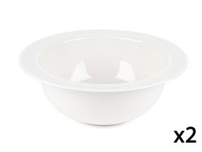 Alessi La Bella Tavola Porcelain Serving Bowl, 25.5cm, Set of 2