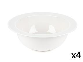 Alessi La Bella Tavola Porcelain Serving Bowl, 25.5cm, Set of 4