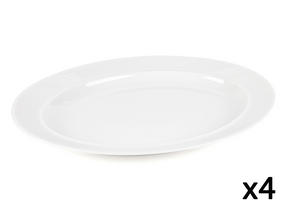 Alessi La Bella Tavola Porcelain Serving Platter, 36cm, Set of 4