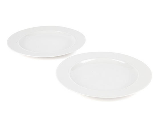 Alessi La Bella Tavola Porcelain Dinner Plates, 27cm, Set of 2