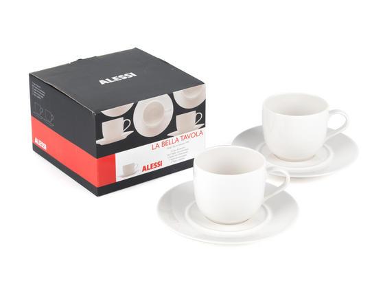 Alessi la bella tavola porcelain cup and saucer set of 2 - Alessi la bella tavola ...