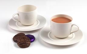Alessi La Bella Tavola Porcelain Cup and Saucer, Set of 2 Thumbnail 2
