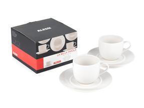 Alessi La Bella Tavola Porcelain Cup and Saucer, Set of 2 Thumbnail 3