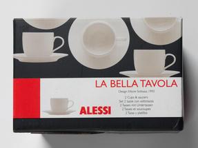 Alessi La Bella Tavola Porcelain Cup and Saucer, Set of 2 Thumbnail 4