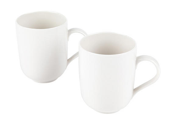 Alessi La Bella Tavola Porcelain Mugs, Set of 2