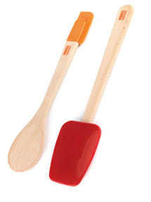 Berndes Wooden Spoon and Spatula Utensil Set with Removable Silicone Heads Thumbnail 6