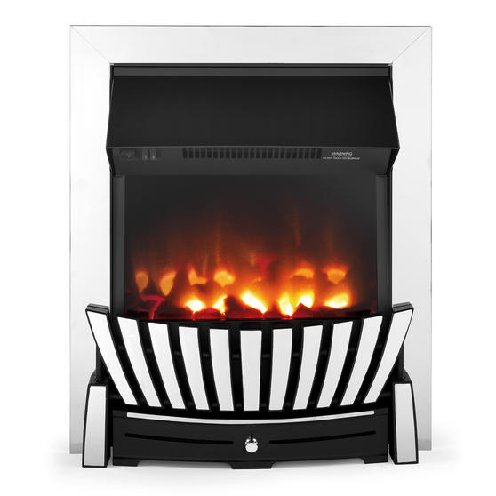 Beldray Almada Inset and Free Standing Electric Fire, 2000 W, Chrome