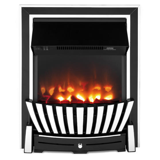 Beldray Almada Premium Inset and Free Standing Electric Fire, 2000 W, Chrome