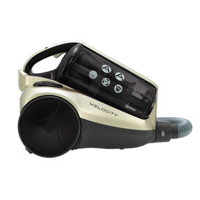Hoover RE71VE25001 Velocity Bagless Cylinder Vacuum Cleaner, 2.5 Litre, 700 W, Black and Champagne Thumbnail 2