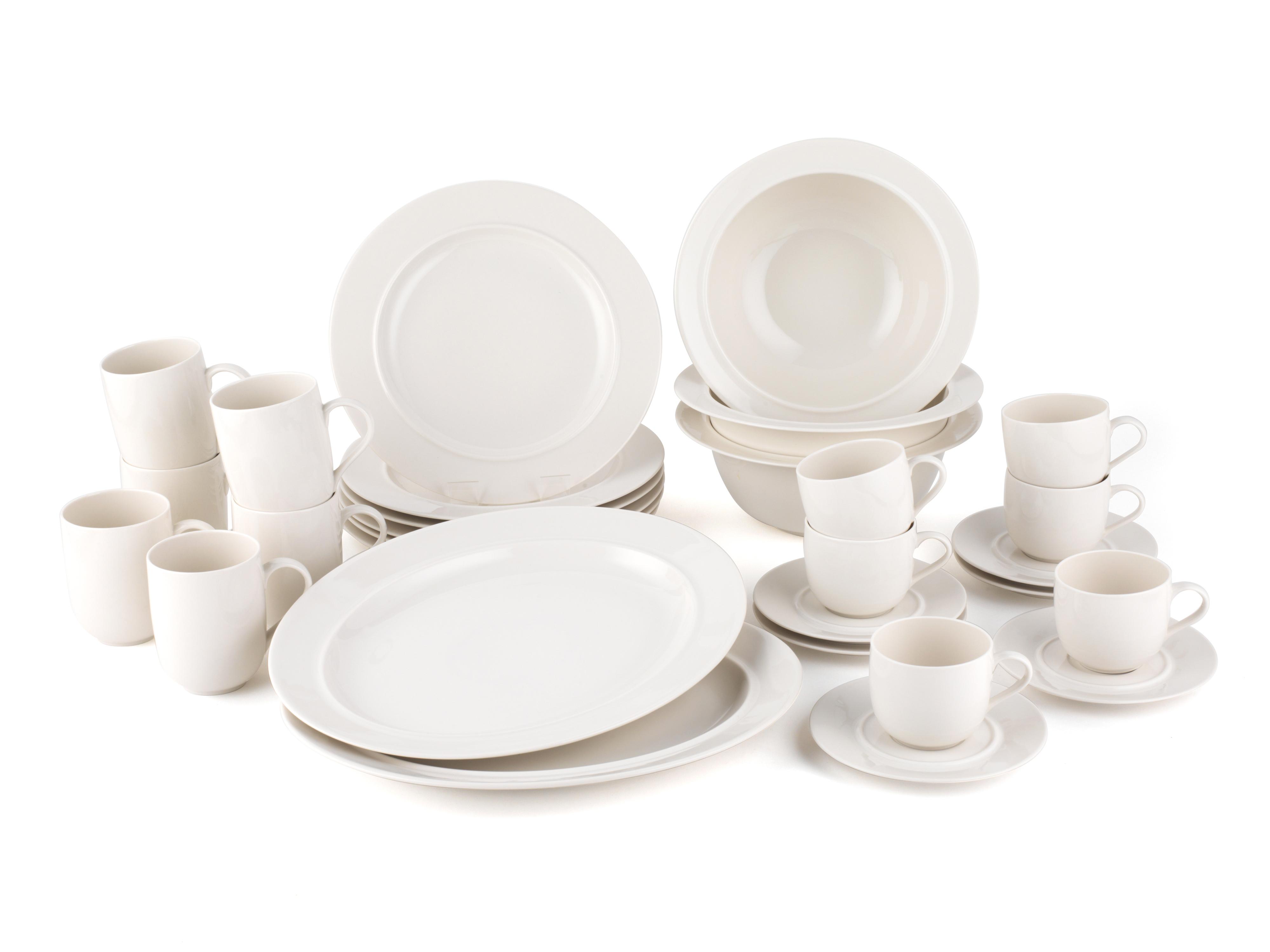 Alessi La Bella Tavola Porcelain 6-Place Setting Dining Set with 3 Serving Bowls \u0026  sc 1 st  No1Brands4You & Alessi La Bella Tavola Porcelain 6-Place Setting Dining Set with 3 ...