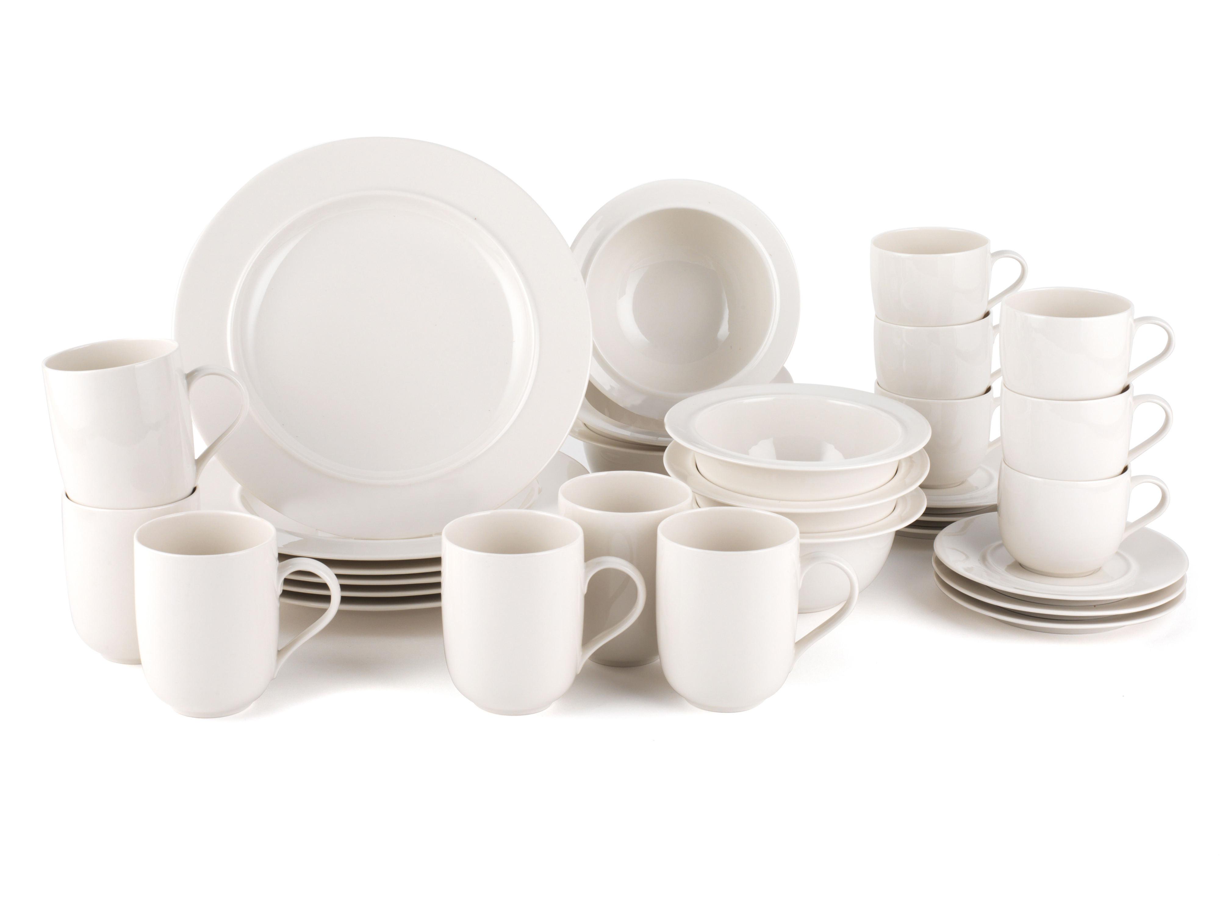 Alessi La Bella Tavola Porcelain 6-Place Setting Breakfast and Dinner Dining Set  sc 1 st  No1Brands4You & Alessi La Bella Tavola Porcelain 6-Place Setting Breakfast and ...