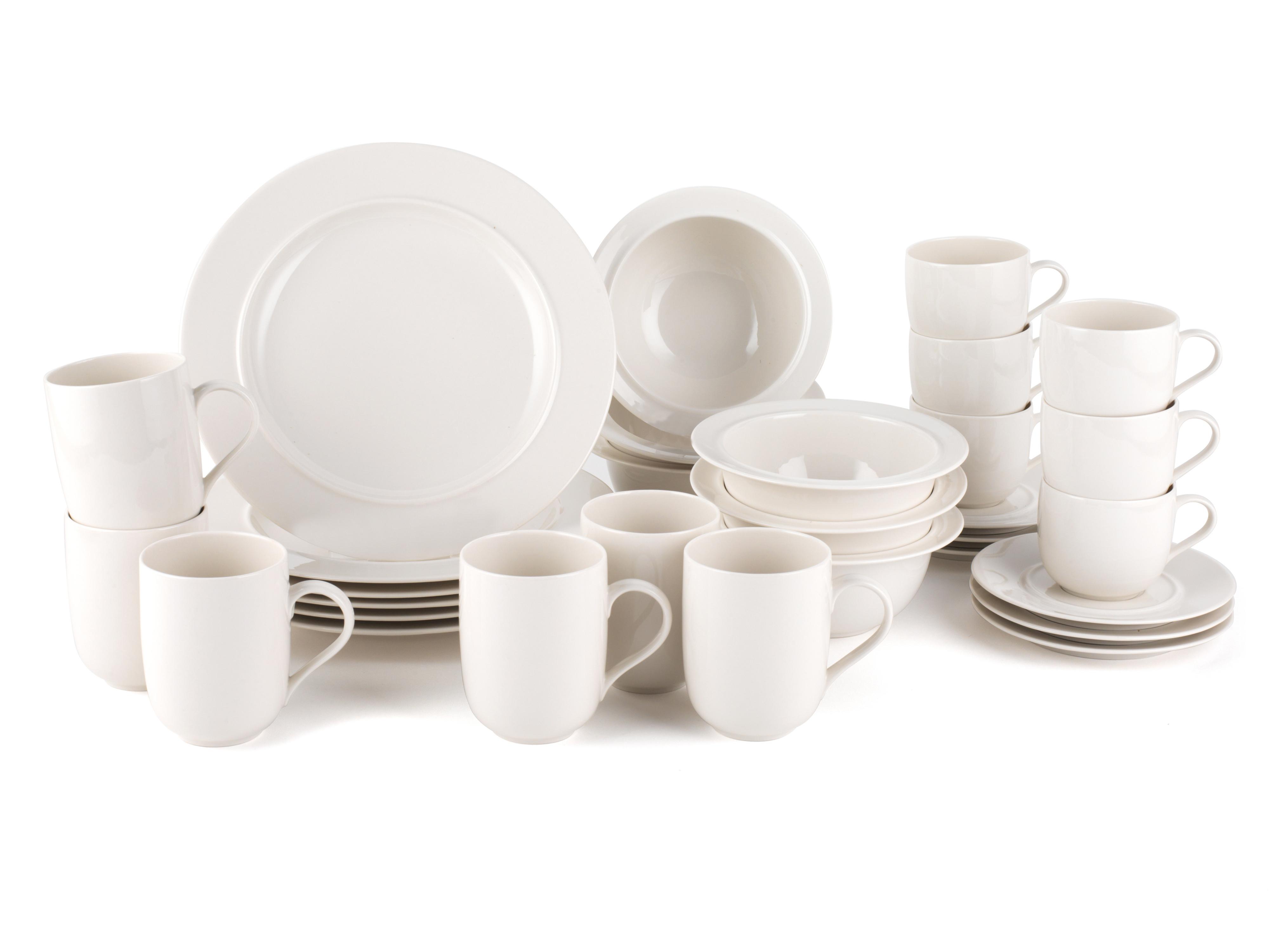 Alessi La Bella Tavola Porcelain 6-Place Setting Breakfast and ...