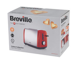 Breville Black 1.5 Litre Plastic Jug Kettle and Red 2 Slice Toaster Set Thumbnail 7