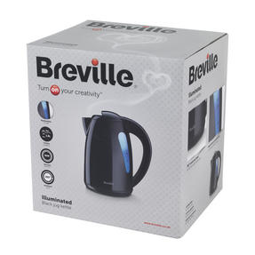 Breville Black 1.5 Litre Plastic Jug Kettle and Red 2 Slice Toaster Set Thumbnail 8