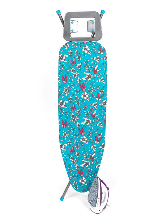 Beldray Glide 2200W Steam Iron and Eve Print Ironing Board Set
