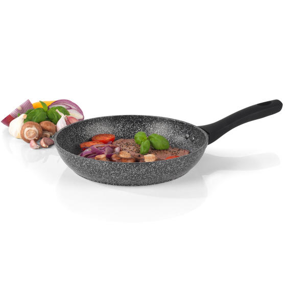 Salter BW05746S Megastone Collection Non-Stick Forged Aluminium Frying Pan, 24 cm, Silver