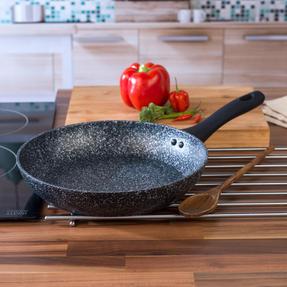 Salter BW05746S Megastone Collection Non-Stick Forged Aluminium Frying Pan, 24 cm, Silver Thumbnail 2