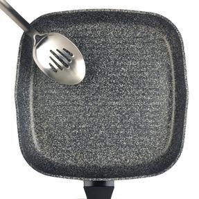 Salter BW05752S Megastone Collection Non-Stick Forged Aluminium Griddle Pan, 28 cm, Silver Thumbnail 4