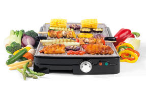 Salter XL Health Grill and Panini Maker with Non-Stick Marble Coating Thumbnail 2