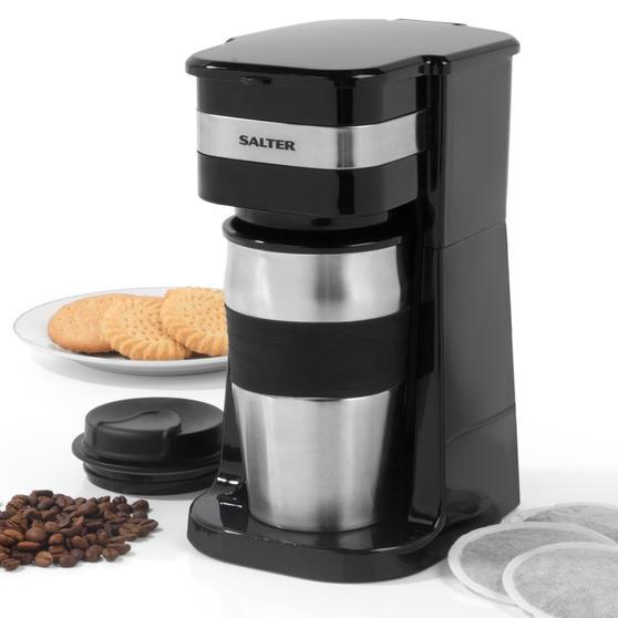 Salter EK2408 Coffee Maker to Go Personal Filter Coffee Machine, 420 ml, 700 W, Black