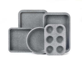 Salter BW05245AR Marble Collection Carbon Steel Non Stick 5 Piece Baking Set, Grey Thumbnail 1
