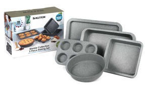Salter BW05245AR Marble Collection Carbon Steel Non Stick 5 Piece Baking Set, Grey Thumbnail 8