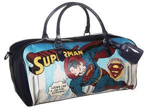 DC Comics Vintage Superman Weekend Bag, Navy