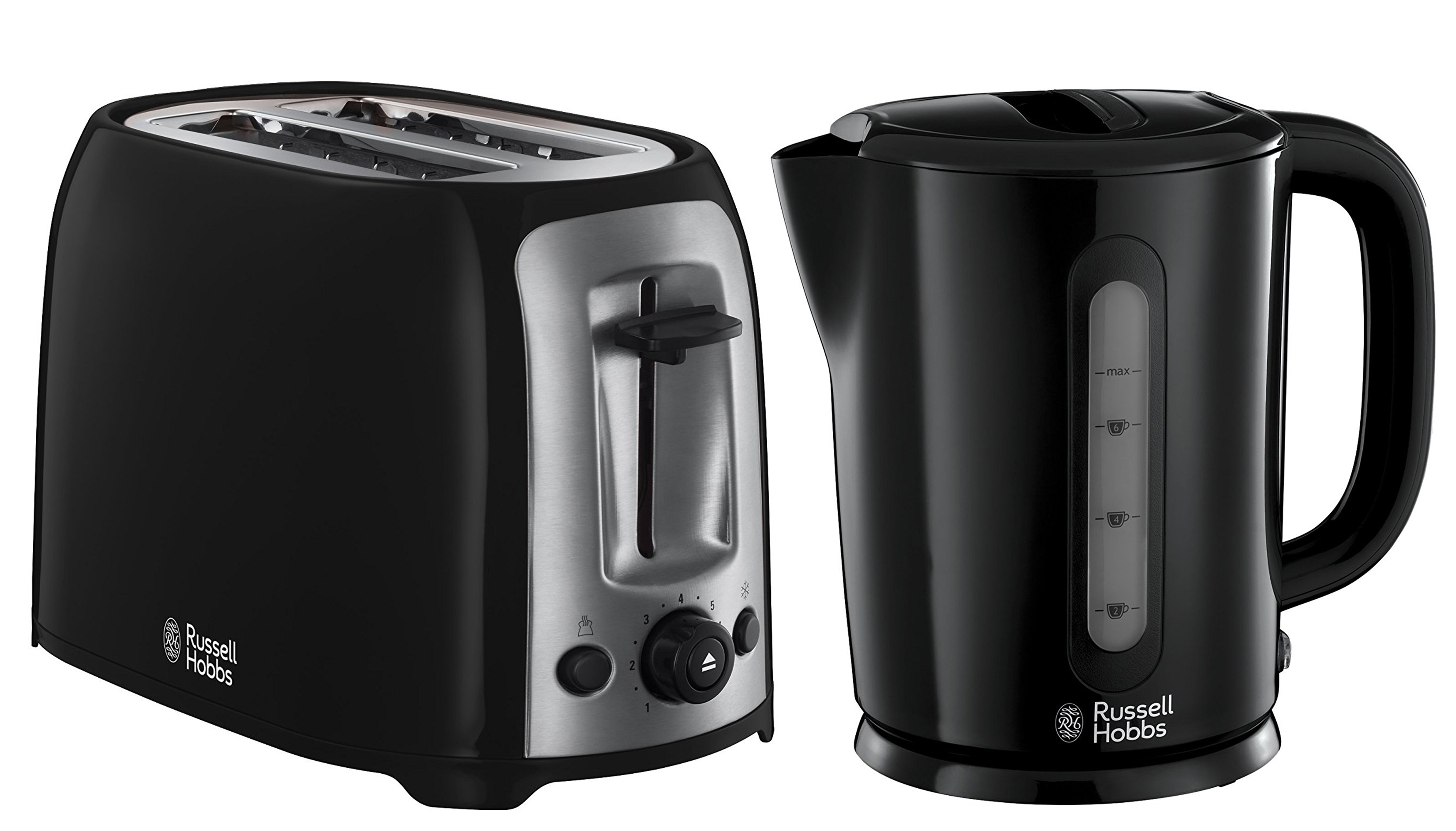 /Russell Hobbs Darwin Kettle And 2 Slice Toaster Set
