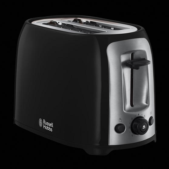 Black And Silver Kitchen Appliances: /Russell Hobbs Darwin Kettle And 2 Slice Toaster Set