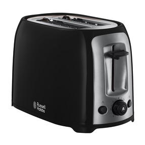 Russell Hobbs Darwin Kettle and 2 Slice Toaster Set, Black/Silver Thumbnail 3