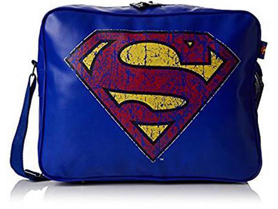 BB Designs Unisex Superman Classic Messenger Bag, Blue