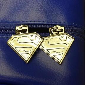 BB Designs Unisex Superman Classic Messenger Bag, Blue Thumbnail 3