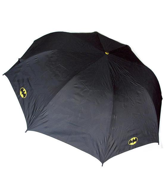 DC Comics Batman Unisex Golf Umbrella Automatic Folding Brolly, Black