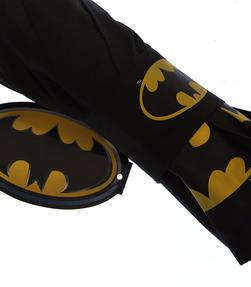 DC Comics Batman Unisex Golf Umbrella Automatic Folding Brolly, Black Thumbnail 4