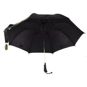 DC Comics Batman Unisex Golf Umbrella Automatic Folding Brolly, Black Thumbnail 9